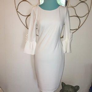 sz 4 NWT DKNY classic summer white dress